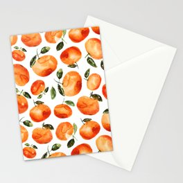 Watercolor tangerines Stationery Cards