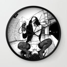 asc 589 - Une Américaine à Paris (My 4th of July in Paris) Wall Clock