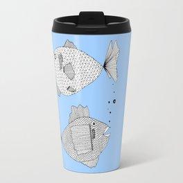 Two Fish Blue Fish Travel Mug