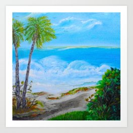 Trail to Beach  Oil on Canvas Art Print