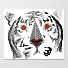 Moirè Tiger Canvas Print