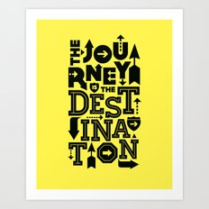 Yellow Journey Quote Art Print