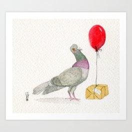 The Messenger Pigeon Art Print