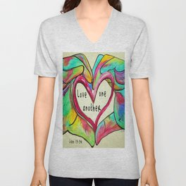 Love One Another John 13:34 Unisex V-Neck