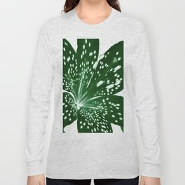 Lily Infrared In Green Long Sleeve T-shirt