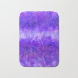 Dappled Blue Violet Abstract Bath Mat