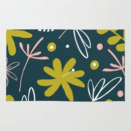 bold retro floral pattern Rug