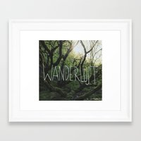 wanderlust Framed Art Prints featuring Wanderlust by Leah Flores