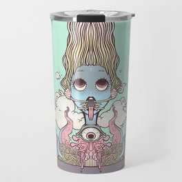 Ramen Noodle And Octopus Tentacle Anime Girl Travel Mug