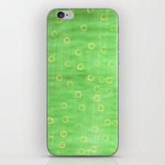 Green and yellow abstract painting iPhone & iPod Skin