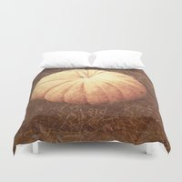 pumpkin Duvet Covers featuring Pumpkin by Yellowstone Photo Studio