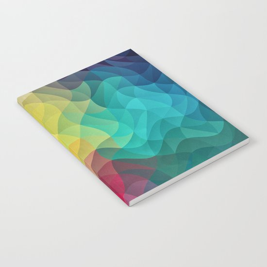 Abstract Color Wave Flash Notebook