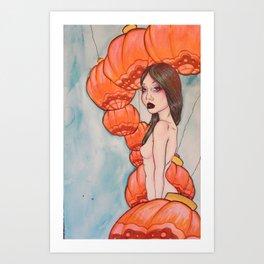 monarch of the lanterns Art Print
