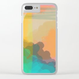 Shapes and Layers no.10 - Sun, Waves, Clouds, Sky abstract Clear iPhone Case