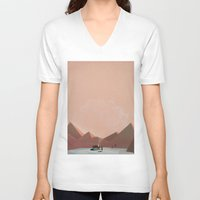 alone V-neck T-shirts featuring alone by Amit Shimoni
