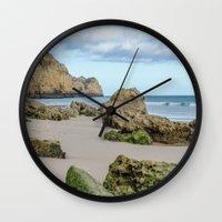 portugal Wall Clocks featuring ALGARVE PORTUGAL by Sébastien BOUVIER