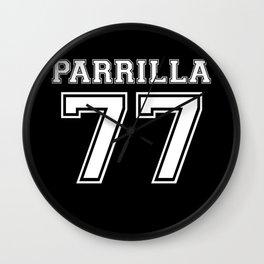 Parrilla 77 Wall Clock