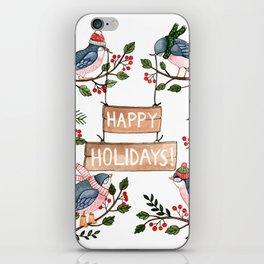 Holiday Birds iPhone Skin