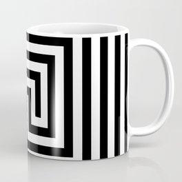 Cretan labyrinth in black and white Coffee Mug