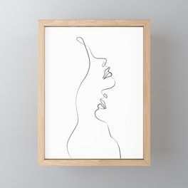 Lovers - Minimal Line Drawing Art Print4 Framed Mini Art Print