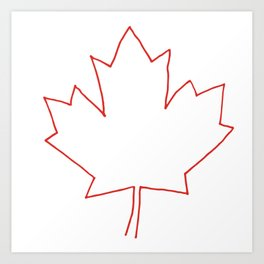 One line Canada Art Print