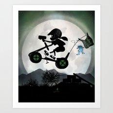 Halo Kid Art Print