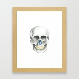 Skull Black and White Framed Art Print