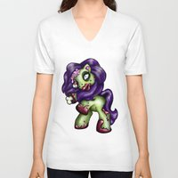 my little pony V-neck T-shirts featuring Zombie My Little Pony by Hungry Designs