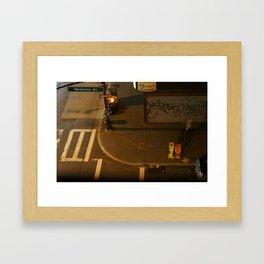 A Street Corner, New York Framed Art Print