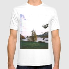Every Leaf is a Flower - simple White MEDIUM Mens Fitted Tee