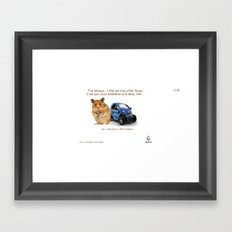 Hamsters want to test Twizy! colors urban fashion culture Jacob's 1968 Paris Agency for Renault Framed Art Print