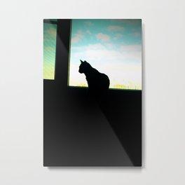 Cat Noir Metal Print