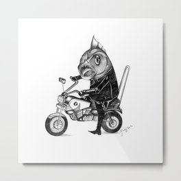 Fishy bike Metal Print