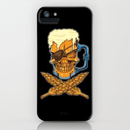Beer Skull - Brewer Pirate - Brewery iPhone Case