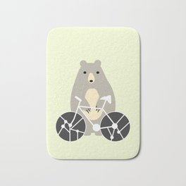Bear with bike Bath Mat