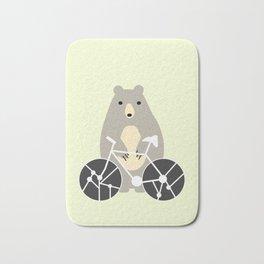 Bear with bike Bath Mat