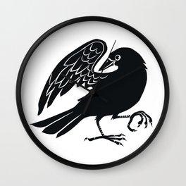 Dancing Crow Wall Clock