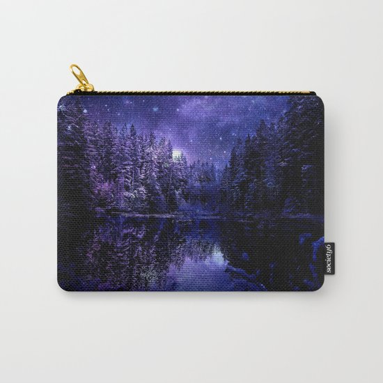 Winter Forest Deep Purple Blue Carry-All Pouch