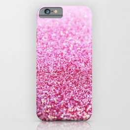 Pink Mermaid Glitter Glam #1 (Faux Glitter) #shiny #decor #art #society6 iPhone Case