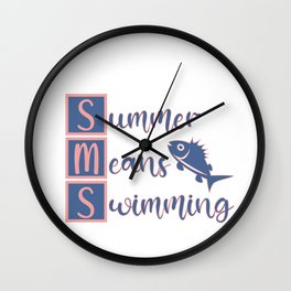 Summer means swimming Wall Clock