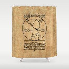 Vitruvian Gerbil Shower Curtain