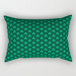 Chinese Scales Green Dragon Rectangular Pillow
