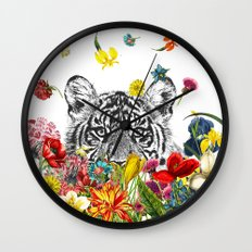 Happy Tiger Wall Clock