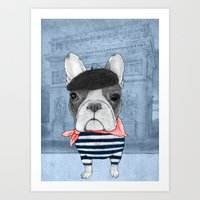 french Art Prints featuring French Bulldog. by Barruf