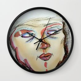 The Painted Face Wall Clock