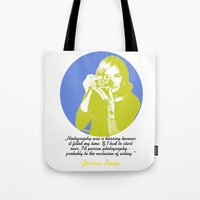 jessica lange Tote Bags featuring Jessica Lange by BeeJL