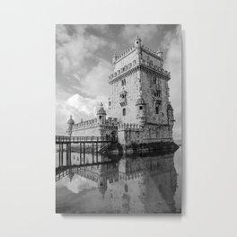 Belem Tower Lisbon Portugal Metal Print