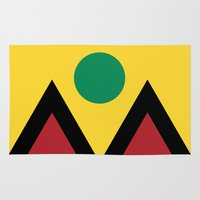 denver Area & Throw Rugs featuring Denver Flag by HighTribe