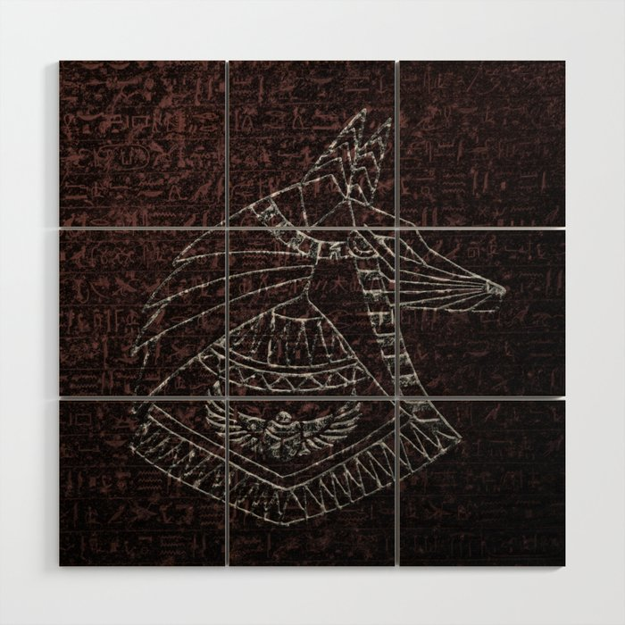 Anubis Egyptian God Wood Wall Art