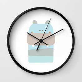 Baby Hippopotamus Wall Clock